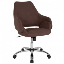 MFO Venice Collection Mid-Back Chair in Brown Fabric