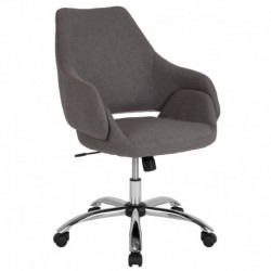 MFO Venice Collection Mid-Back Chair in Dark Gray Fabric