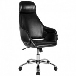 MFO Nash Collection High Back Chair in Black Leather