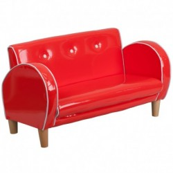 MFO Kids Red Loveseat
