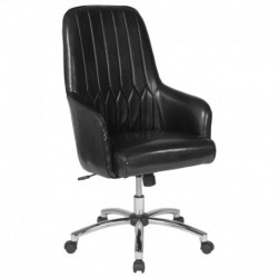 MFO Colson Collection High Back Chair in Black Leather