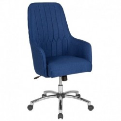 MFO Colson Collection High Back Chair in Blue Fabric