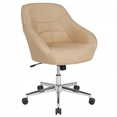 MFO Nash Collection Mid-Back Chair in Beige Fabric