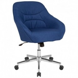 MFO Nash Collection Mid-Back Chair in Blue Fabric