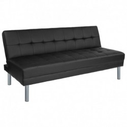 "MFO Stanford Collection 67"" Black Futon Bed and Couch"