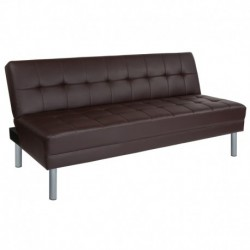 "MFO Stanford Collection 67"" Brown Futon Bed and Couch"