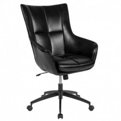 MFO Kit Collection High Back Chair in Black Leather