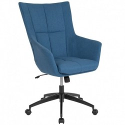 MFO Kit Collection High Back Chair in Blue Fabric