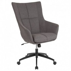 MFO Kit Collection High Back Chair in Dark Gray Fabric