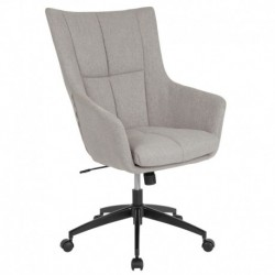 MFO Kit Collection High Back Chair in Light Gray Fabric