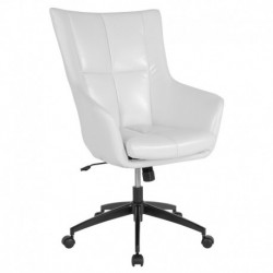 MFO Kit Collection High Back Chair in White Leather