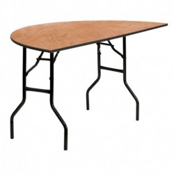 MFO 60'' Half-Round Wood Folding Banquet Table