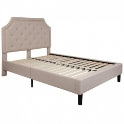 MFO Princeton Collection Full Size Bed in Beige Fabric
