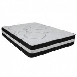 MFO Camila Collection 12 Inch Foam and Pocket Spring Mattress, Full in a Box