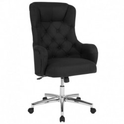 MFO Hugo Collection High Back Chair in Black Fabric