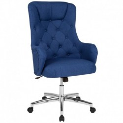 MFO Hugo Collection High Back Chair in Blue Fabric