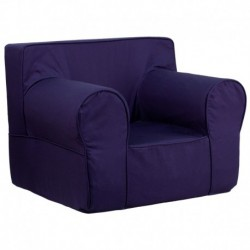 MFO Oversized Solid Navy Blue Kids Chair