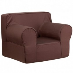 MFO Oversized Solid Brown Kids Chair