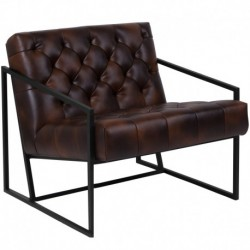 MFO Princeton Collection Bomber Jacket Leather Tufted Lounge Chair