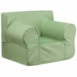 MFO Oversized Solid Green Kids Chair