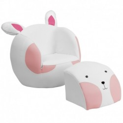 MFO Kids Rabbit Chair and Footstool