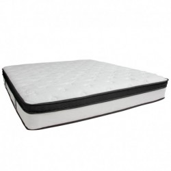 MFO Armand Collection 12 Inch Memory Foam and Pocket Spring Mattress, King in a Box