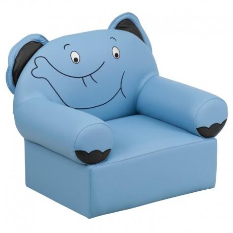 Delightful MFO Kids Blue Elephant Chair