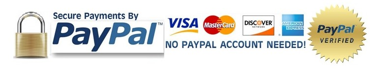 Shop Securely! We Accept Most Major Credit Cards!